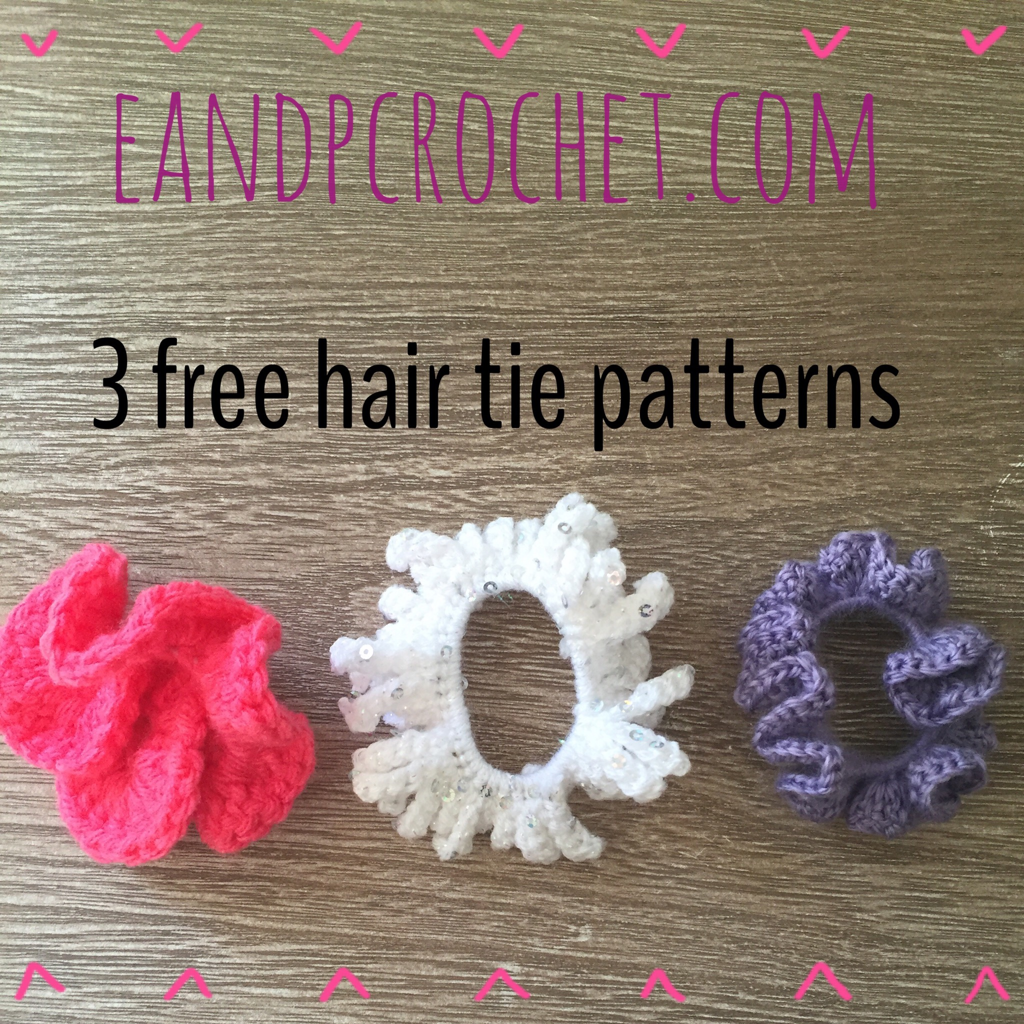 Pattern: Hair Scrunchies - Evelyn And Peter Crochet