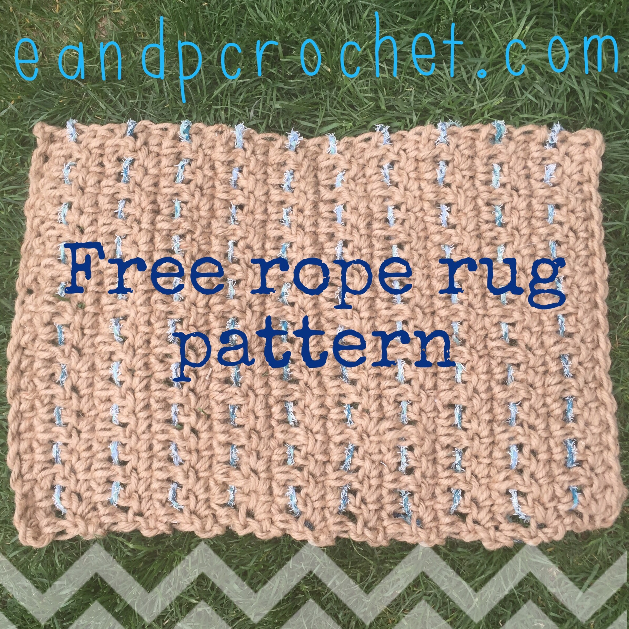 Pattern: Outdoor crochet rope rug - Evelyn And Peter Crochet