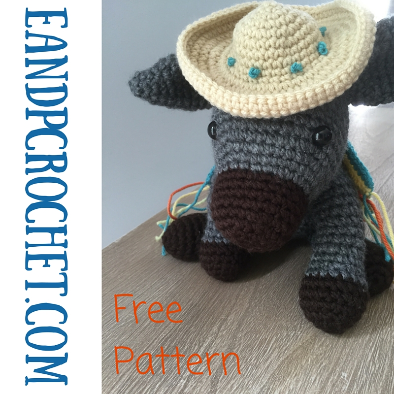 Occasionally I like to crochet amigurumi for something different! My fave  is when they are soft and jumbo sized! I used a bulky yarn to make this  donkey so ... 4e04e993e