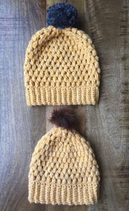 Pattern Slouchy Puff Stitch Beanie Evelyn And Peter Crochet