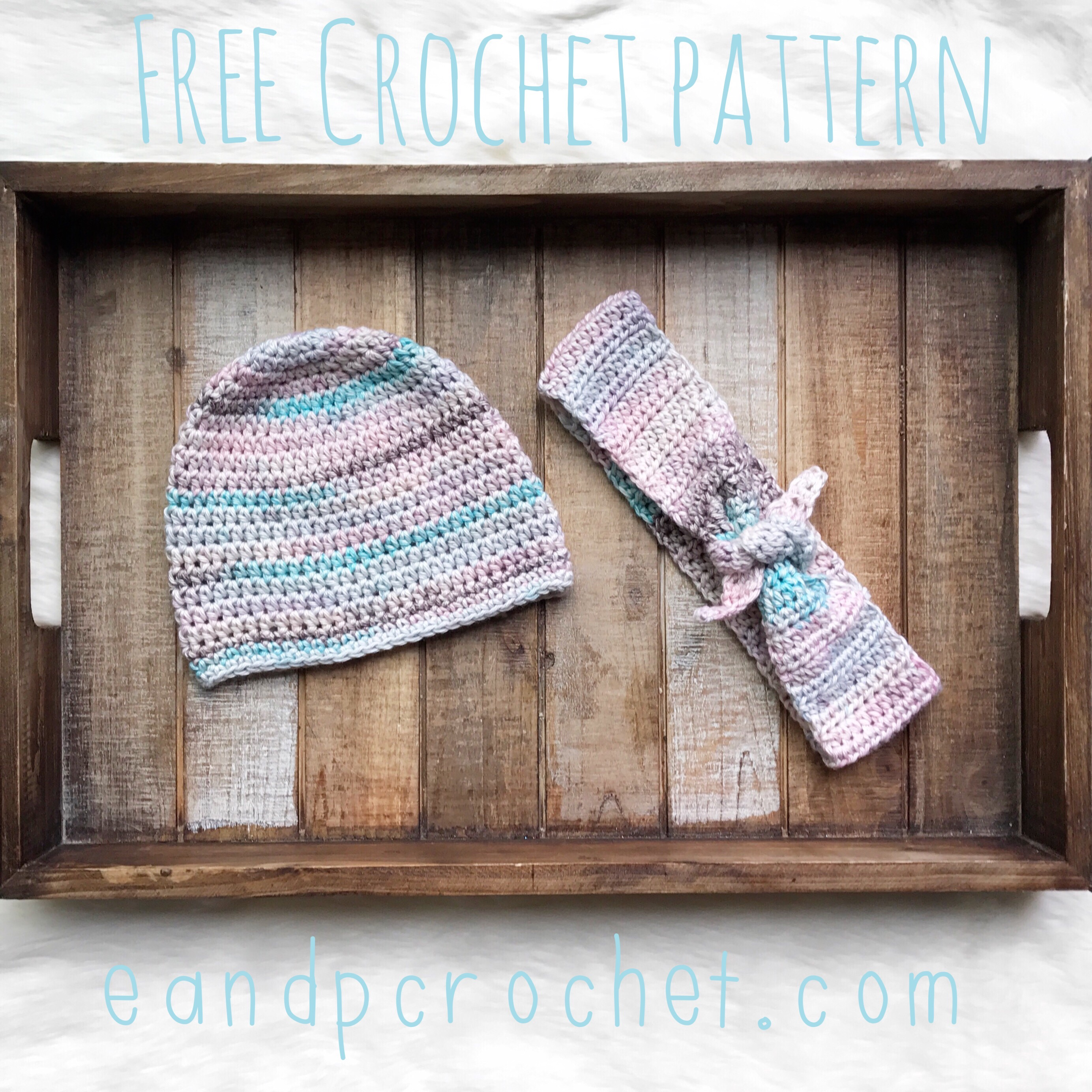 Pattern: Spring Beanie and Headband - Evelyn And Peter Crochet