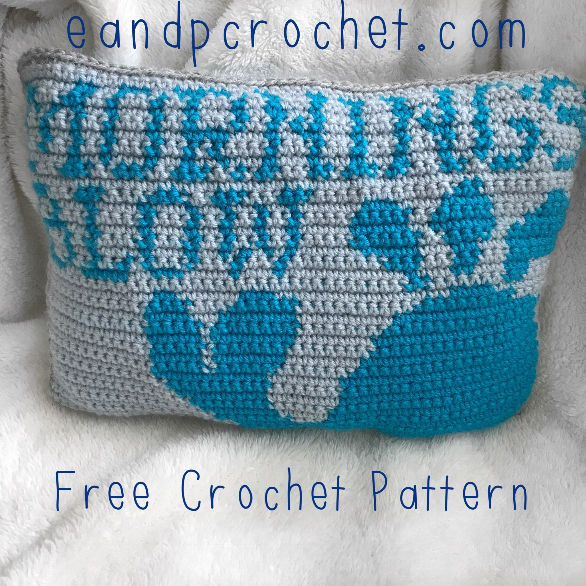 Pattern Tapestry Crochet Whale Pillow Evelyn And Peter Crochet