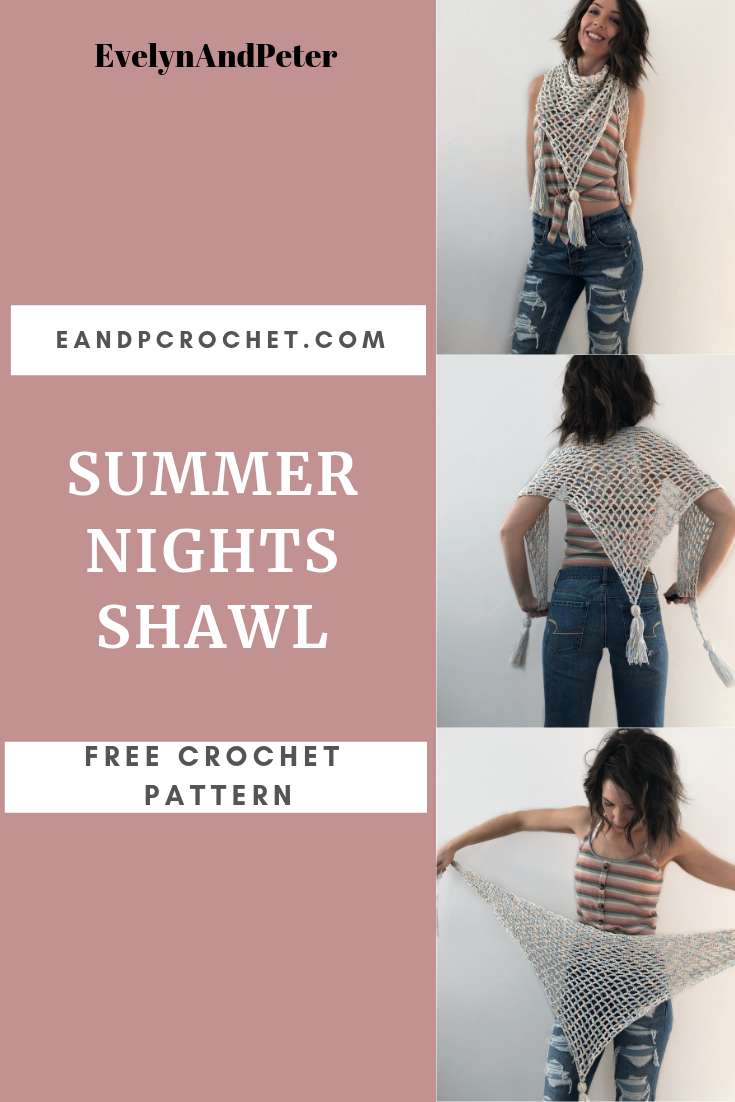 Pattern: Summer Nights Shawl - Evelyn And Peter Crochet