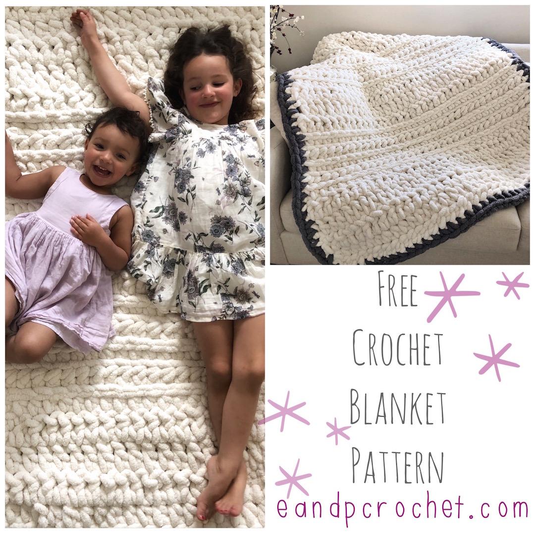 Pattern Chunky Crochet Blanket Evelyn And Peter Crochet