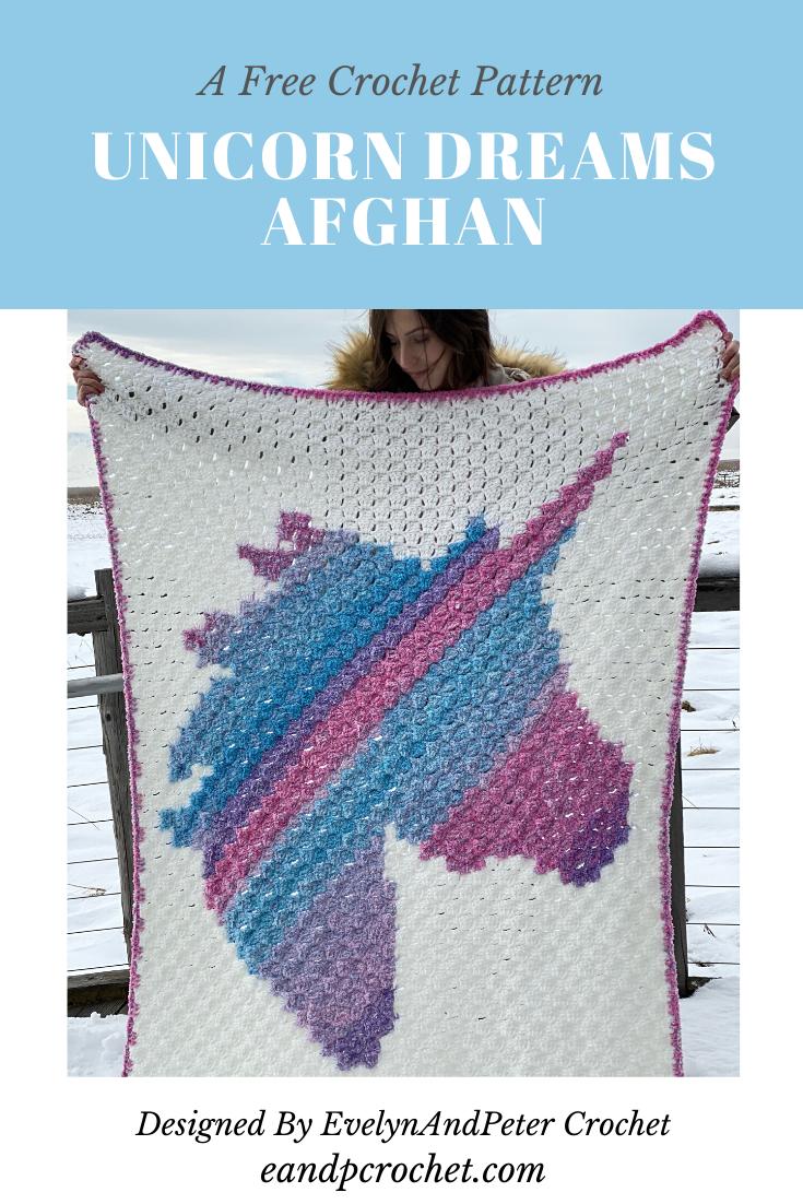 Pattern: Unicorn Dreams Afghan - Evelyn